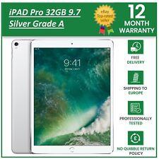 Apple iPad Pro 32GB Wi-Fi 9.7 in Silver A1673 Grade A+ Retina Display iOS 13+ UK