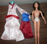 Disney Princess Mulan barbie style Doll with clothes