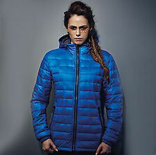 2786 Womens Padded Quilted Jacket TS016FC - Royal Ladies M Warm Winter Coat