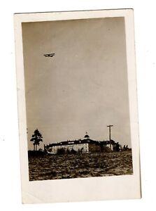 1911 Airplane Flying Real Photo Postcard, RPPC