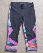 FILA Women's gray purple multi color skimmers pants capris S yoga running