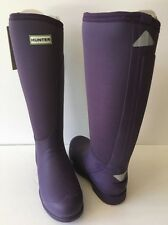 New Hunter Balmoral Equestrian Neoprene Stretch Wellington Boots - Purple