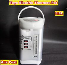 TOYO Electric Thermos Pot, Air Pot 3.8L Silver (R12) - Dented