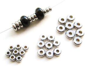 Edelstahl Perlen Zwischenperlen Rondellen 2x4/5/6mm 50/100 Stück SERAJOSY