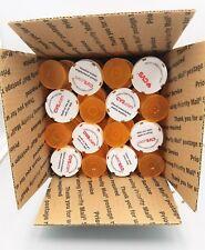 32 Clean Empty Pill Bottles - 50 Cent Piece Diameter - Ammo Crafts Coins