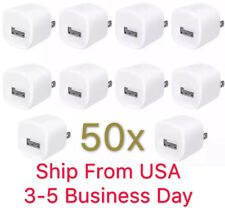 50x White 1A USB Power Adapter AC Home Wall Charger US Plug FOR iPhone 5 5S 6 7