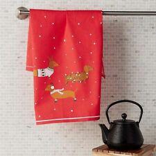 "Dachshund Dog Christmas Holiday Kitchen Tea Towels 50x70"" Sweater Lights NEW"