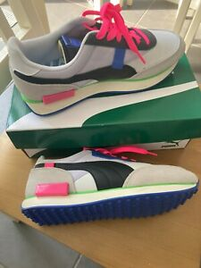 New Womens Puma Neon Future Rider Trainers size UK 6.5 Limited Edition !!!!!