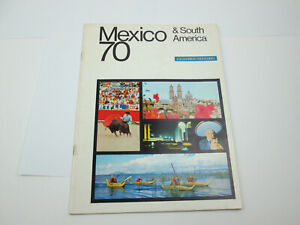 Vintage 1970 American Express Mexico Tour Travel Book Advertising PUL49