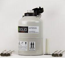 6 L Contenitore dell'azoto liquido SERBATOIO criogenico Storage DEWAR 6 SECCHI degli Stati Uniti solido