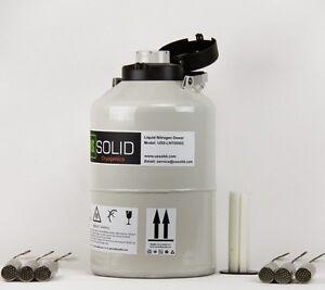 6 L Liquid Nitrogen Container Tank Cryogenic Storage Dewar 6 Pails U.S.Solid