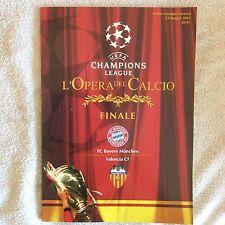 PROGRAMMA UFFICIALE CALCIO CHAMPIONS LEAGUE MILANO FINALE 2001 VALENCIA - BAYERN