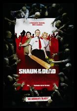 SHAUN OF THE DEAD CineMasterpieces ORIGINAL MOVIE POSTER ZOMBIE COMEDY DAWN 2004