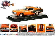 1971 PLYMOUTH CUDA HEMI ORANGE 50TH HEMI ANNIVERSARY 1/24 M2 MACHINES 40300-42B
