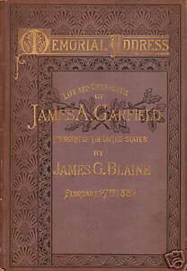 US President James A. Garfield 1882 Memorial Address, BEP Engraving