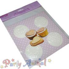 Culpitt LACE HEART Cupcake Texture Mats -Set of 4- Sugarcraft Cake Decorating