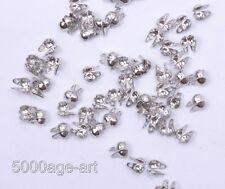 500 Pcs dull silver Charlotte End Crimp Bead Tip fit 2mm bead