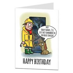 Birthday Card From The Dog Funny Design For Men Women Husband & Wife