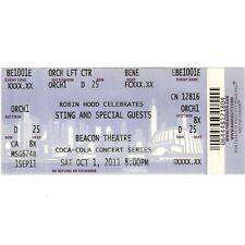 STING SPRINGSTEEN STEVIE WONDER LADY GAGA HANCOCK Concert Ticket Stub 10/1/11 NY