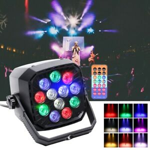 36W Bühneneffekt Par Light RGBW 12 LEDs Fernbedienung Strobe Party DJ Show Licht
