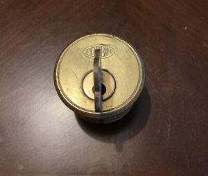 Vintage Brass Corbin Cylinder Lock w/ Key ~ Door Hardware