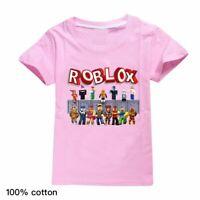 Pink Shirt With Shoes Roblox Roblox Boys Girls Kids Cartoon Short Sleeve T Shirt Tops Summer Casual Costumes Ebay