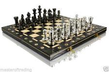 Juegos de ajedrez color principal plata