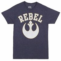 Star Wars Rebel Logo Navy Heather Men's T-Shirt New