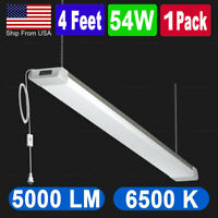 4 ft 54W LED Shop Light for Workbench, Basement, Garage 120W  Equivalent Hanging