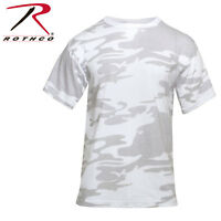 T-Shirt Camouflage Camo  Rothco Military Style White