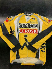 Bcm Once Eroski Team Long Sleeve Cycling Jersey- Yellow- Multiple Sizes