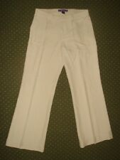 Ralph Lauren Collection Cream 100% Silk Pants size  8  retail $1495