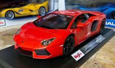 Lamborghini Aventador  Red Maisto 1:18 Scale Diecast Model Sports Car New in Box