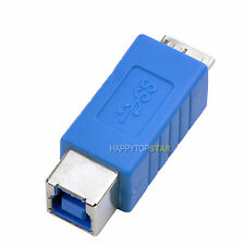 Micro USB 3.0 Male to USB 3.0 B Female Print Scanner Adapter Converter Connector