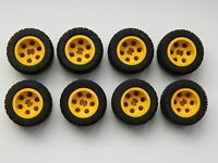 LEGO TECHNIC WHEELS set of 8 30.4x14mm VR Wheel Tire large tyre yellow