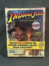 INDIANA JONES And the Fate of Atlantis MAC CD-ROM Big Box Brand NEW Sealed