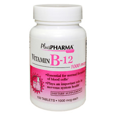 Vitamin B12  B-12, 1000 mcg, 100 Tablets, by Plus Pharma FRESH EXP 05/22