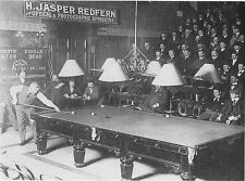 "Billiards Snooker John Roberts Edward Diggle Sheffield 1899 7x5"" Photo Reprint"