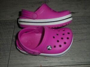 Crocs pink clog slip on shoe size 4-5