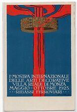 CARTOLINA 1° MOSTRA INTERNAZIONALE ARTI DECORATIVE VILLA REALE DI MONZA RIF 5853