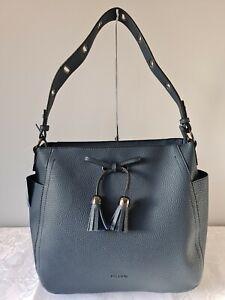 Vershe* Gorgeous Milleni handbag, Hobo, large bag, navy blue, tassel, NWT