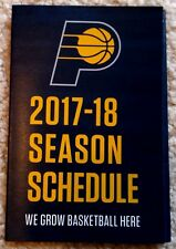INDIANA PACERS POCKET SCHEDULE 2017-18 - MINT!