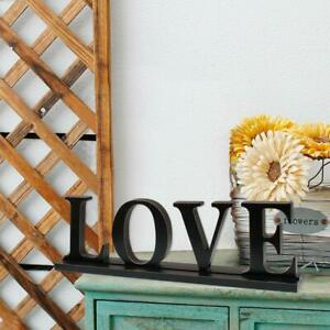 Farmhouse Style Torched Wood Cutout Letters /'Love/'