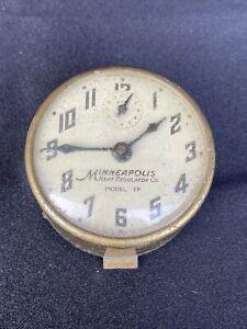 Minneapolis Heat Regulator Co Alarm Clock Steampunk Parts or Repair