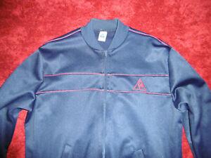 Getragene Le Coq Sportif vintage Sportjacke Trainingsjacke Gr.M blau Jacke