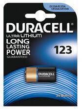 Duracell CR123A DL123A Batería de litio 3V Ultra-Paquete de 4