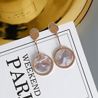 Women Geometric Dangle Drop Hook Acrylic Resin Ear Stud Earrings Jewelry Gift DH