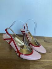 FORNARINA Red & Pink Leather Heeled Pumps High Heels Size EUR 39 UK6 *LOVELY*