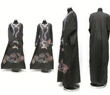 Jeans Matière Caftan Marocain Maxi Robe Abaya Dubai Long Arabe Farasha-New