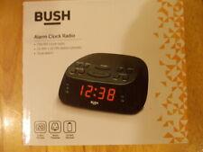 Bush Alarm Clock radio FM/AM Dual Alarm mains powered x2 AAA battery backup